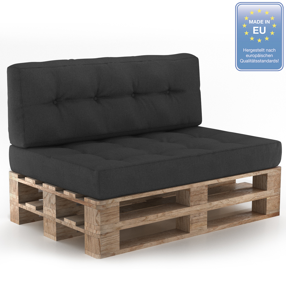 coussin palette sofa oreiller int rieur anthracite ensemble 1 ebay. Black Bedroom Furniture Sets. Home Design Ideas
