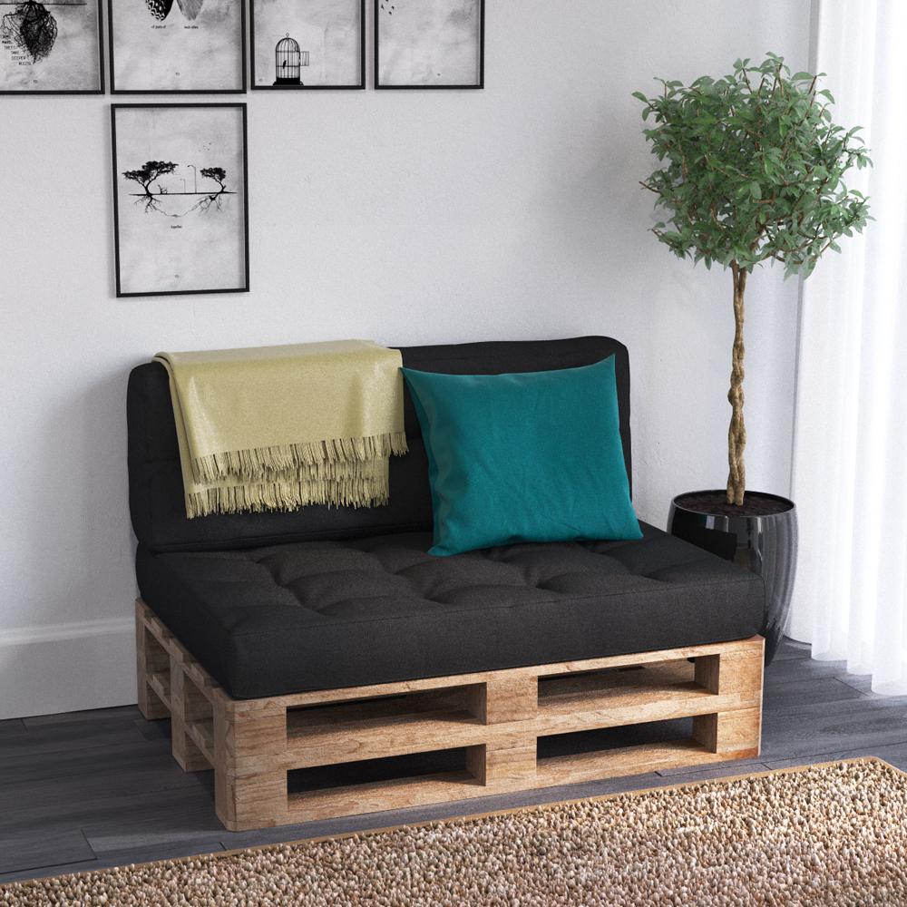 Coussin palette sofa oreiller int rieur anthracite for Coussin sofa exterieur