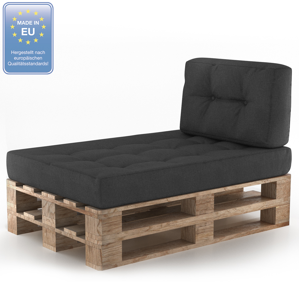 cuscini pallet divani con pallet cuscini imbottitura indoor antracite set 2 ebay. Black Bedroom Furniture Sets. Home Design Ideas