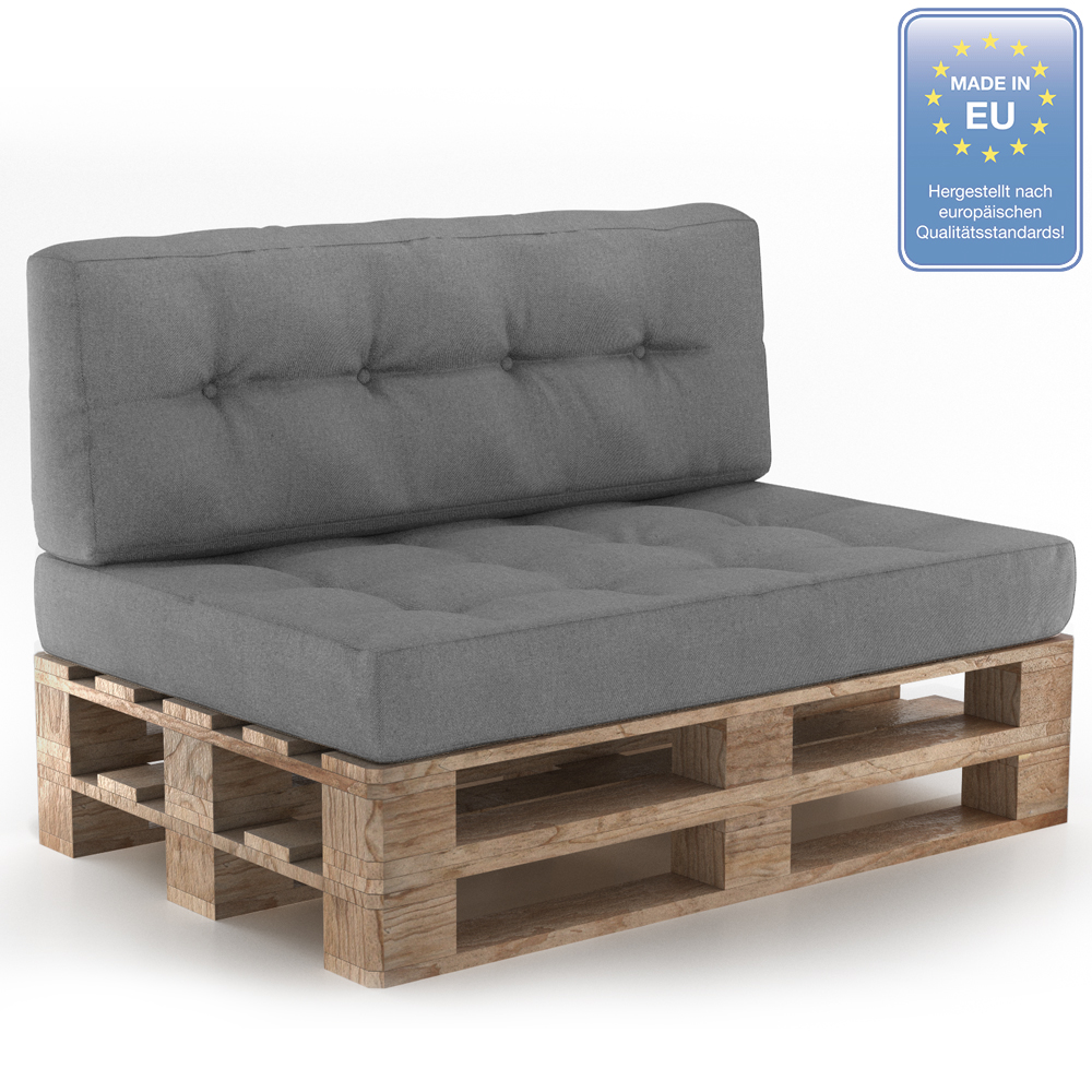 cuscini pallet divani con pallet cuscini imbottitura indoor grigio set 11 ebay. Black Bedroom Furniture Sets. Home Design Ideas