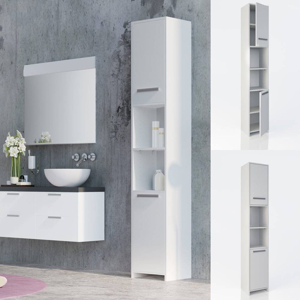White Bathroom Furniture Storage Cupboard Cabinet Shelves: Bathroom Cabinet Wood Tall Bathroom Furniture Shelf