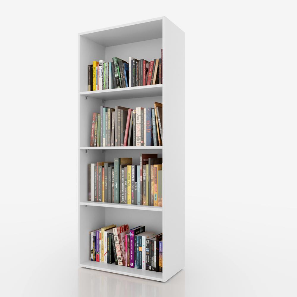 Librer a estanter a de pie armario archivador libros 155x60 cm blanco ebay Estanteria de libros