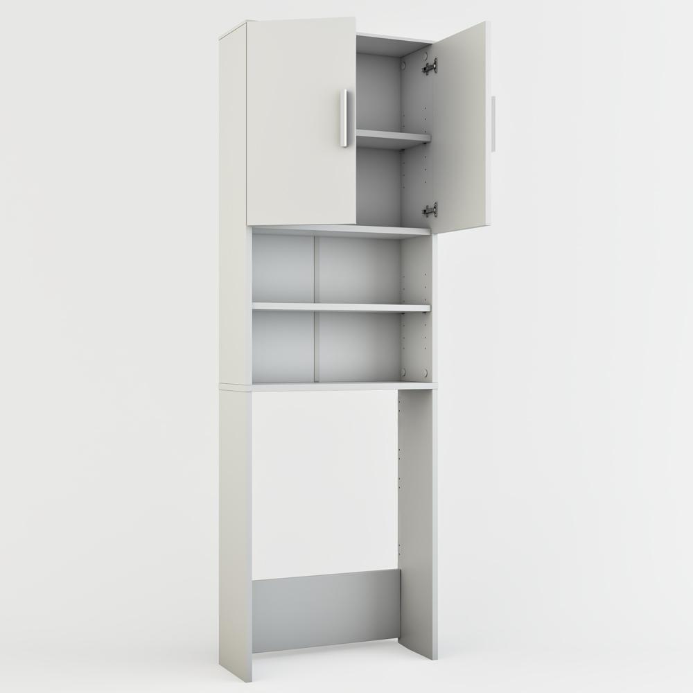 armadio bianco bagno : Armadio Scaffale Arredi Alto Bagno Verticale Per Lavatrice Bianco Casa ...