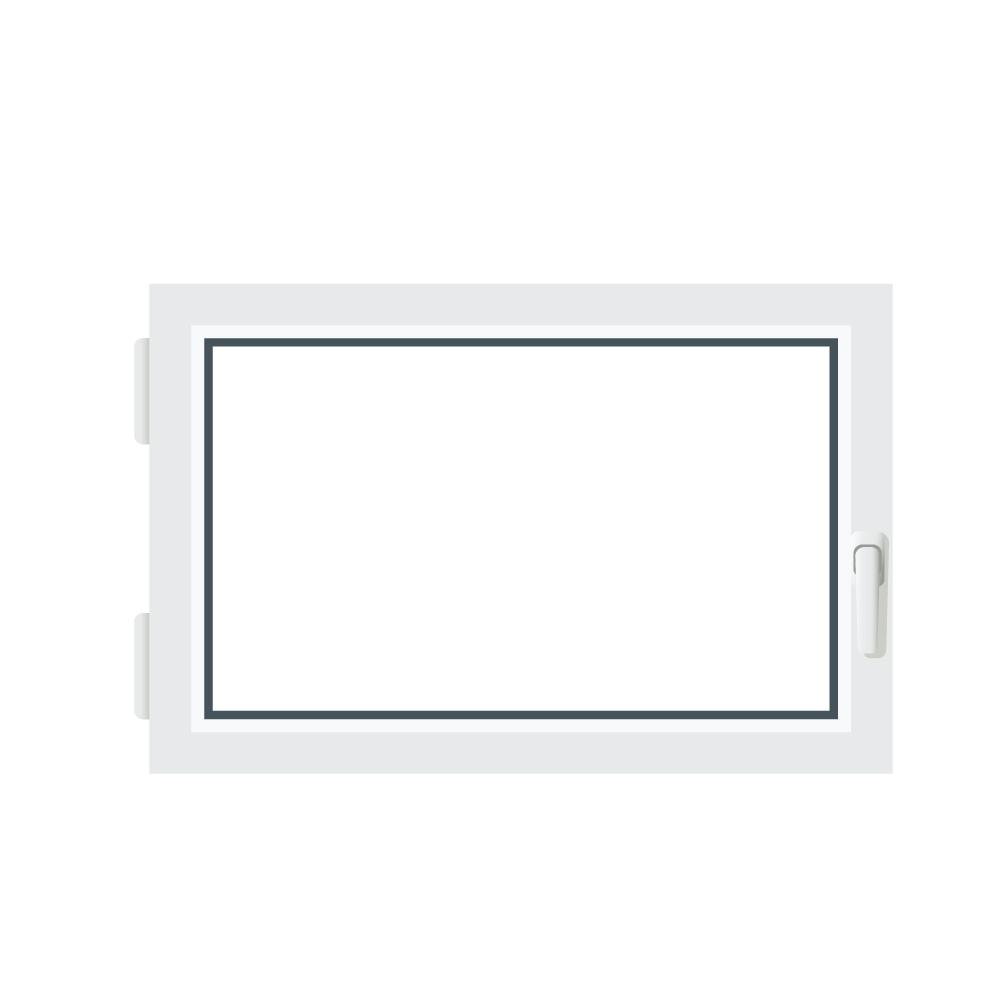 Finestre seminterrato plastica doppio vetro anta ribalta 600x400 sinistra ebay - Finestre a doppio vetro ...