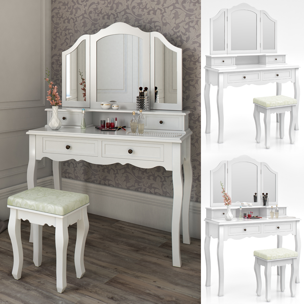 table stool makeup table storage mirror bedroom vanity table ambois