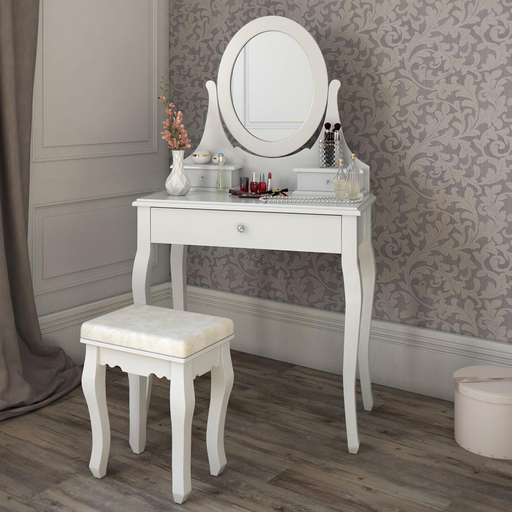 Tavolo per il trucco sgabello specchio camera da letto vanit blois ebay - Specchio camera da letto ...