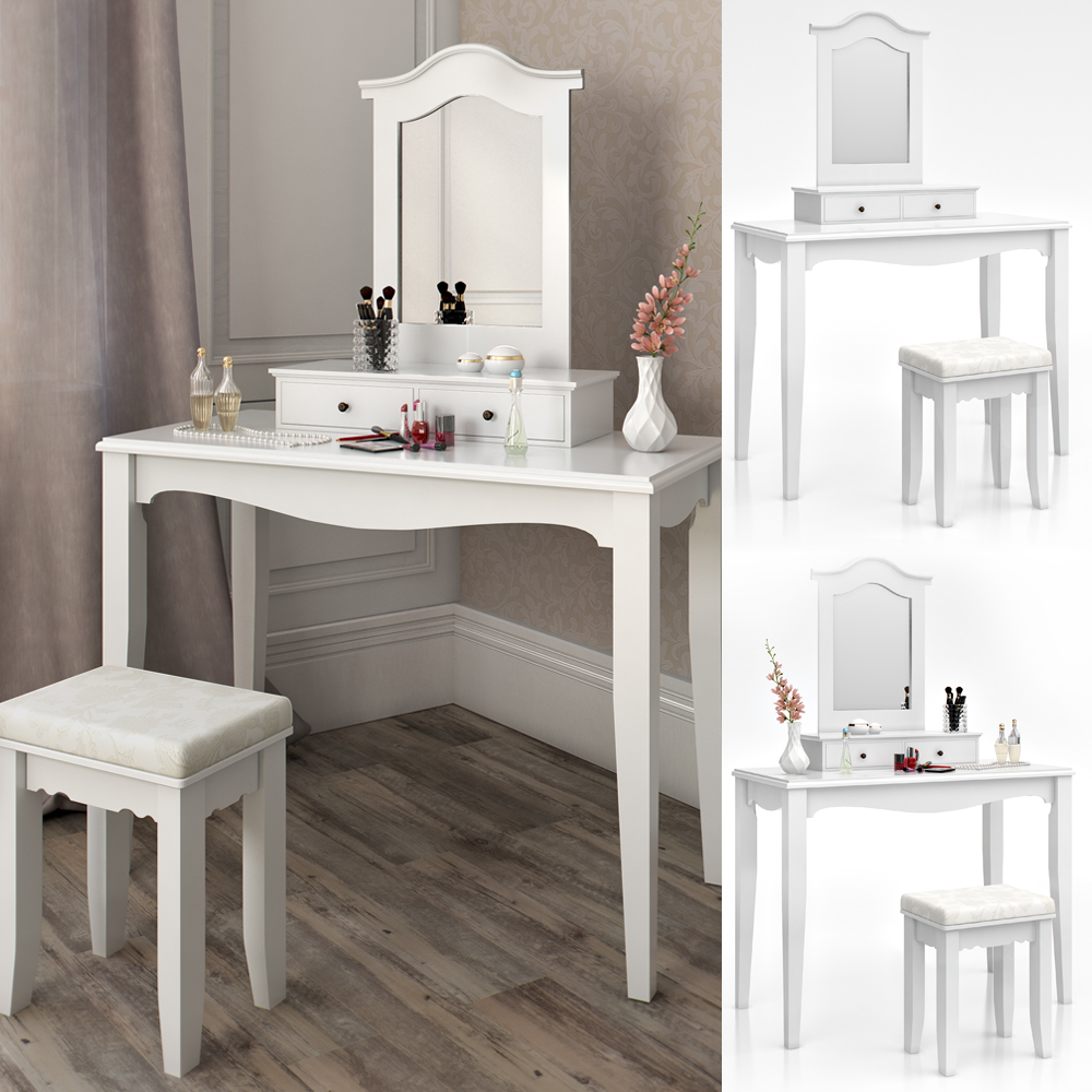 Dressing table stool makeup table storage mirror bedroom vanity table cheverny ebay - Stool for vanity table ...