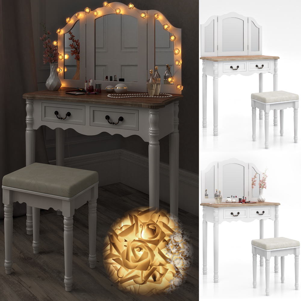 stool makeup table storage mirror bedroom vanity table chaumont ebay