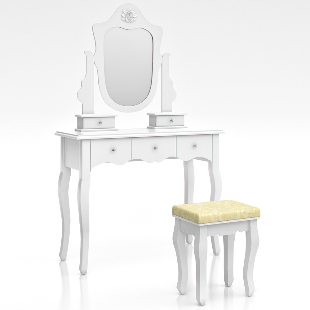 stool makeup table storage mirror bedroom vanity table le rivau ebay