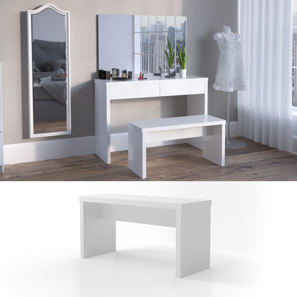 miroir tabouret meuble de maquillage coiffeuse commode de maquillage viola ebay. Black Bedroom Furniture Sets. Home Design Ideas