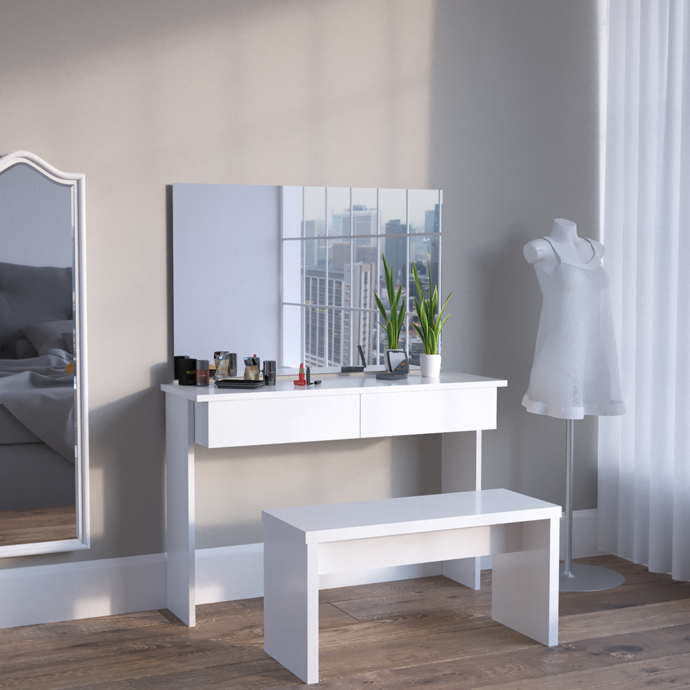 meuble de maquillage azur coiffeuse commode table de maquillage miroir viola. Black Bedroom Furniture Sets. Home Design Ideas