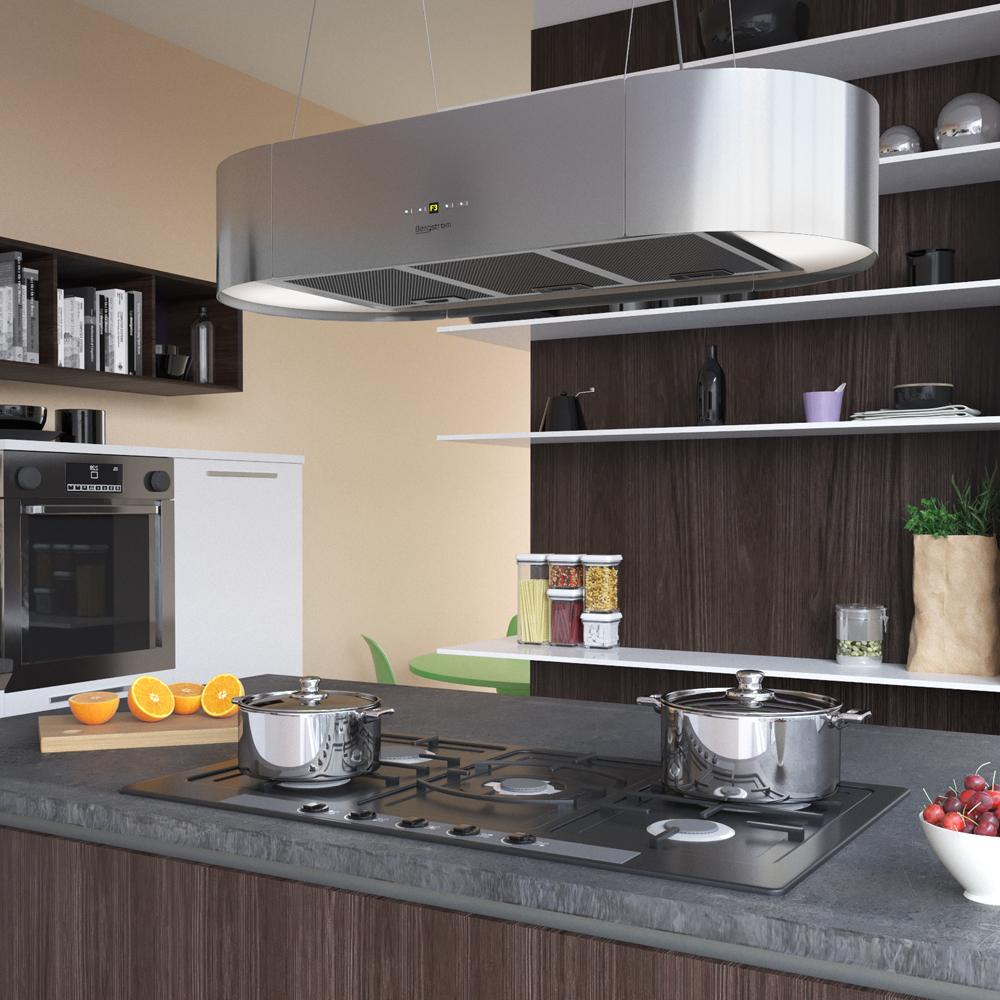 hottes de cuisine design trendy cuisine design avec hotte ilot lustre et verrire noire intrieur. Black Bedroom Furniture Sets. Home Design Ideas