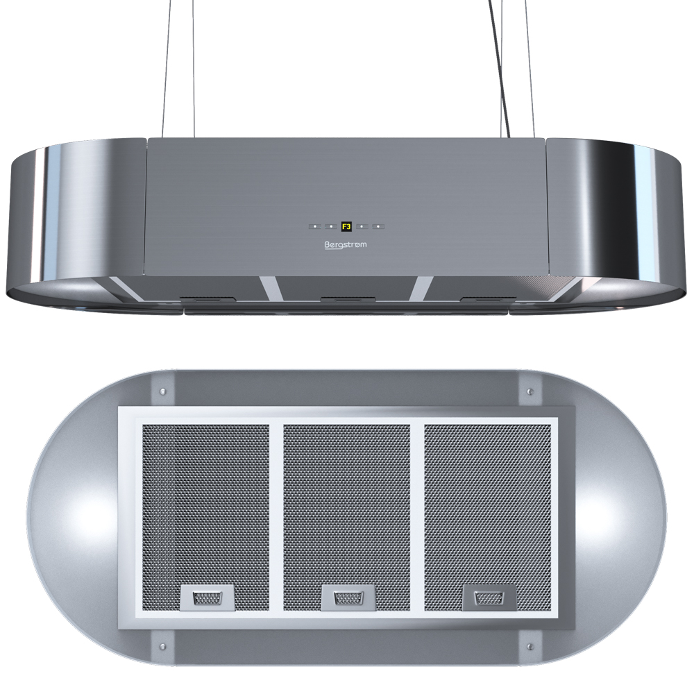 bergstroem design extractor cooker hood island hood. Black Bedroom Furniture Sets. Home Design Ideas