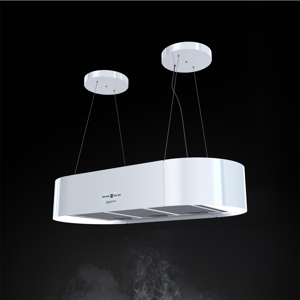 bergstroem design hotte de cuisine lot en suspension acier inox hotte blanc ebay. Black Bedroom Furniture Sets. Home Design Ideas