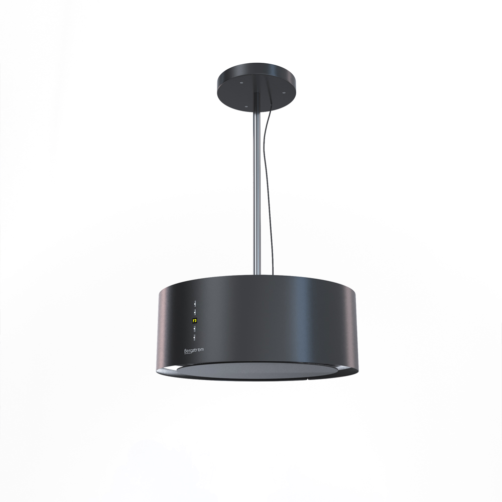 Bergstroem design hotte de cuisine lot en suspension acier inox hotte noir - Hotte aspirante suspendue ...