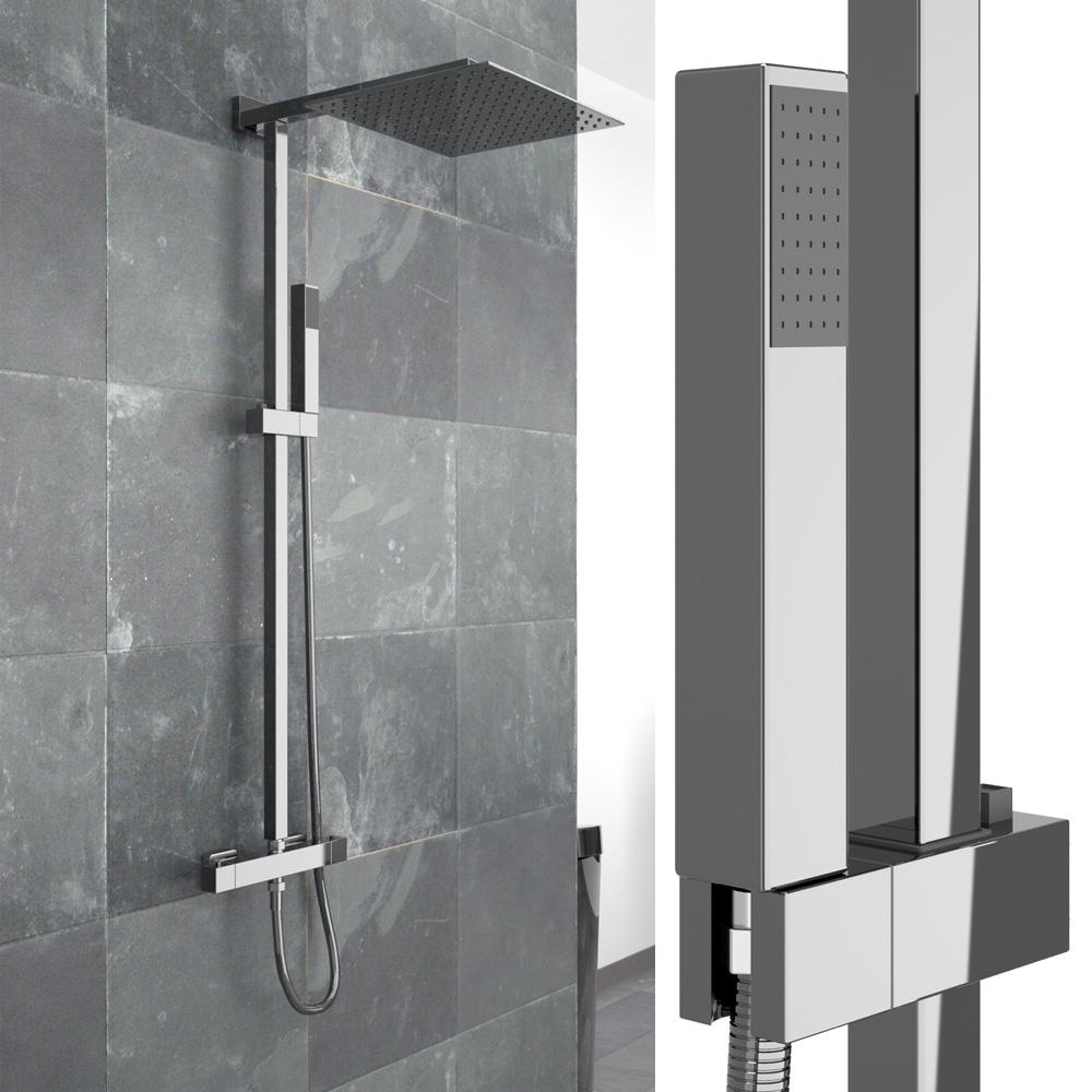 Set doccia rubinetto doccia 30 cm doccetta con soffione a - Cambiare rubinetto bagno ...