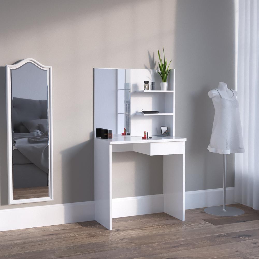 meuble de maquillage coiffeuse commode de maquillage table de maquillage blanc. Black Bedroom Furniture Sets. Home Design Ideas