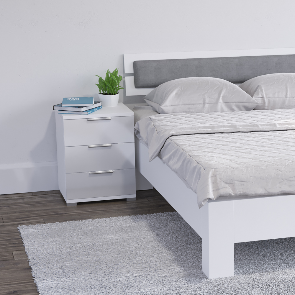 Http Www Ebay Co Uk Itm Bedside Cabinet Drawers Nightstand Cabinet Storage Bedroom White High Gloss 331970533613