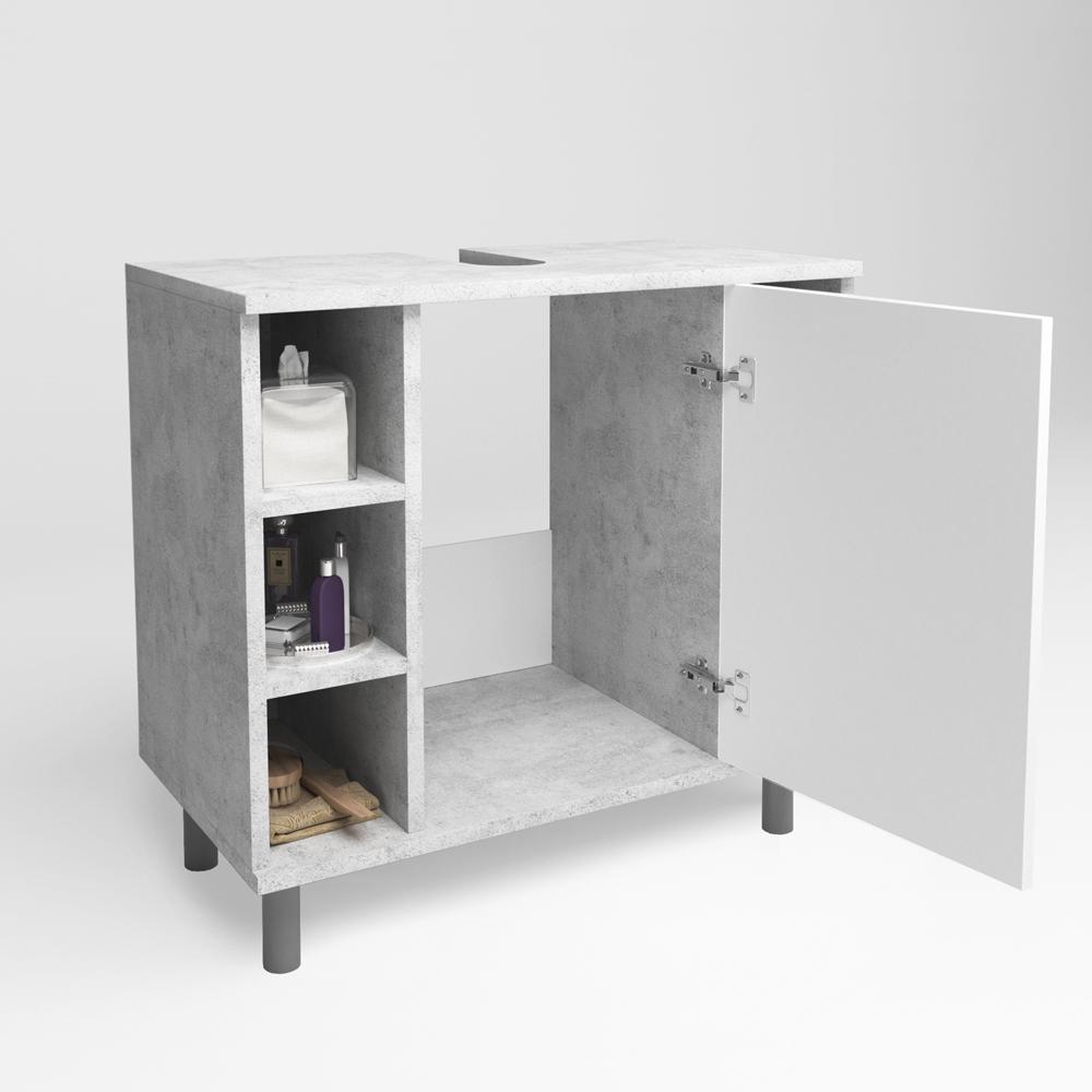 Meuble sous lavabo armoire de bain meuble sous vasque for Sous vasque salle de bain