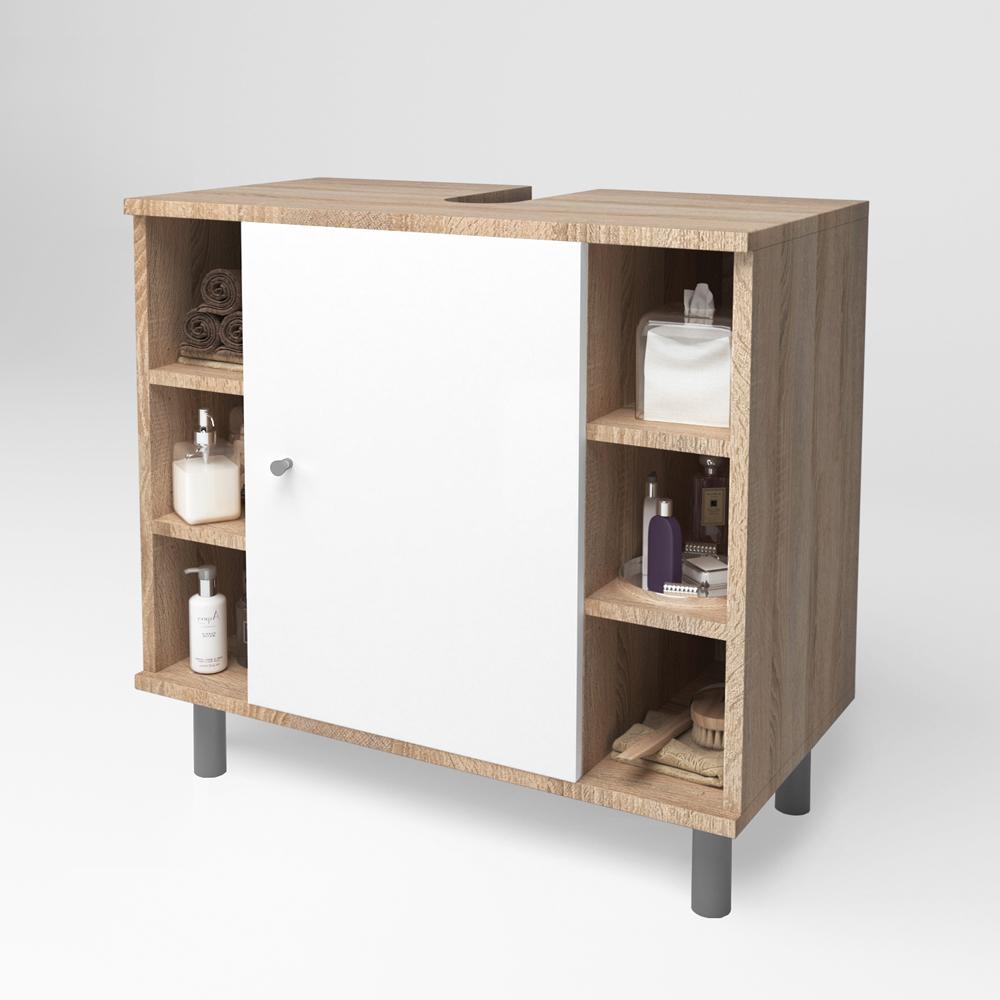 Meuble sous lavabo armoire de bain meuble sous vasque for Meuble de lavabo salle de bain
