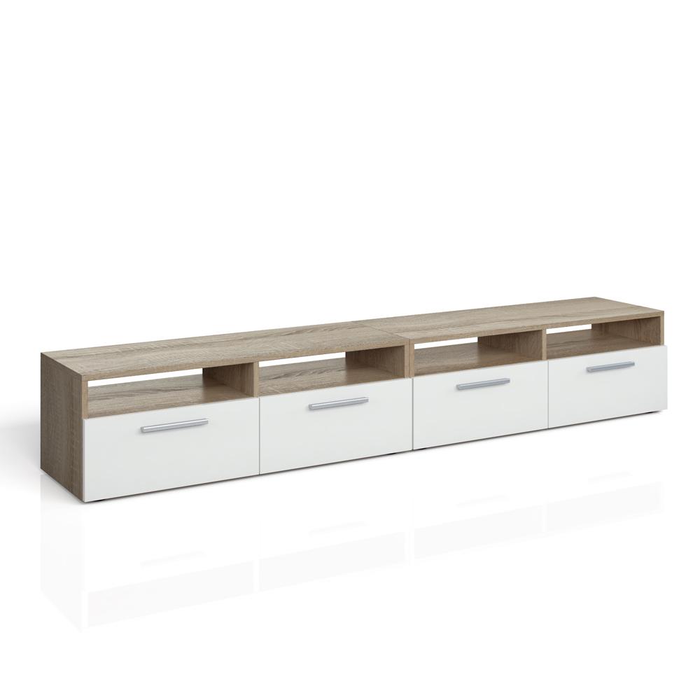 Meuble bas tv armoire table pour t l viseur tag re rack - Meuble pour televiseur ...