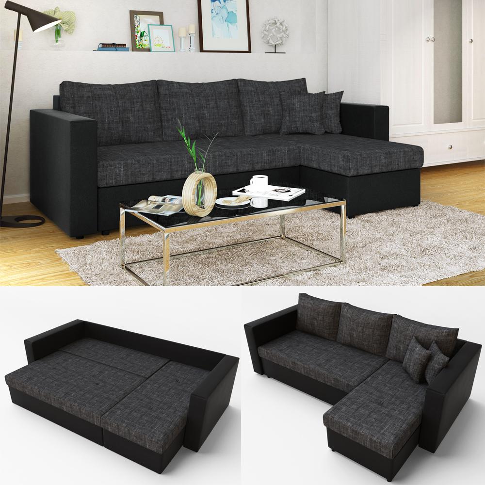 canape d 39 angle avec fonction lit sofa canap canap. Black Bedroom Furniture Sets. Home Design Ideas