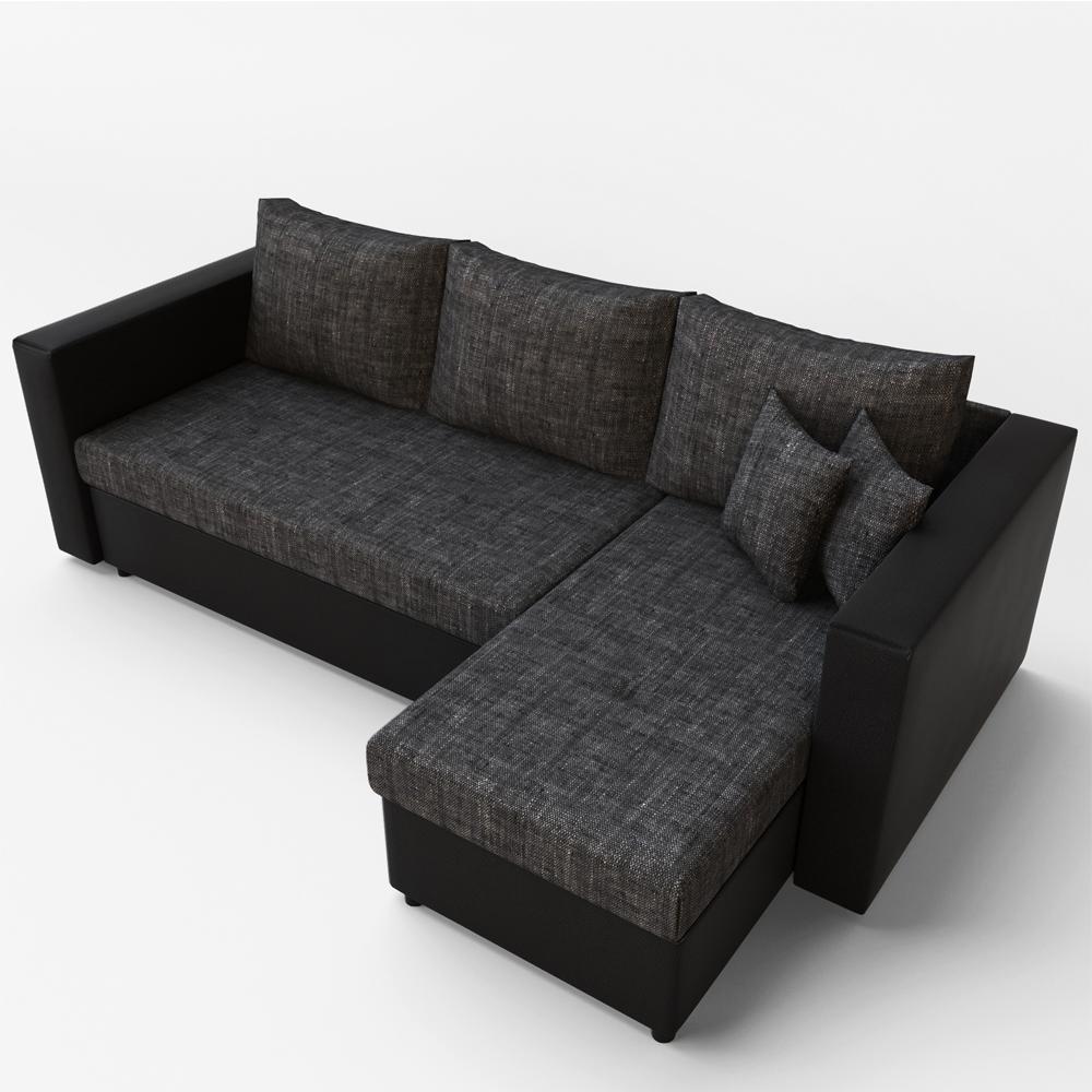 Canape d 39 angle avec fonction lit sofa canap canap for Canape qui s allonge