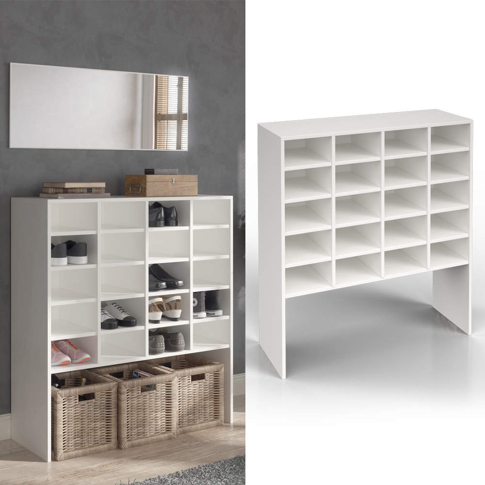 scarpiera armadio scarpiera a scaffale portascarpe scarpiera etagere bianca ebay. Black Bedroom Furniture Sets. Home Design Ideas