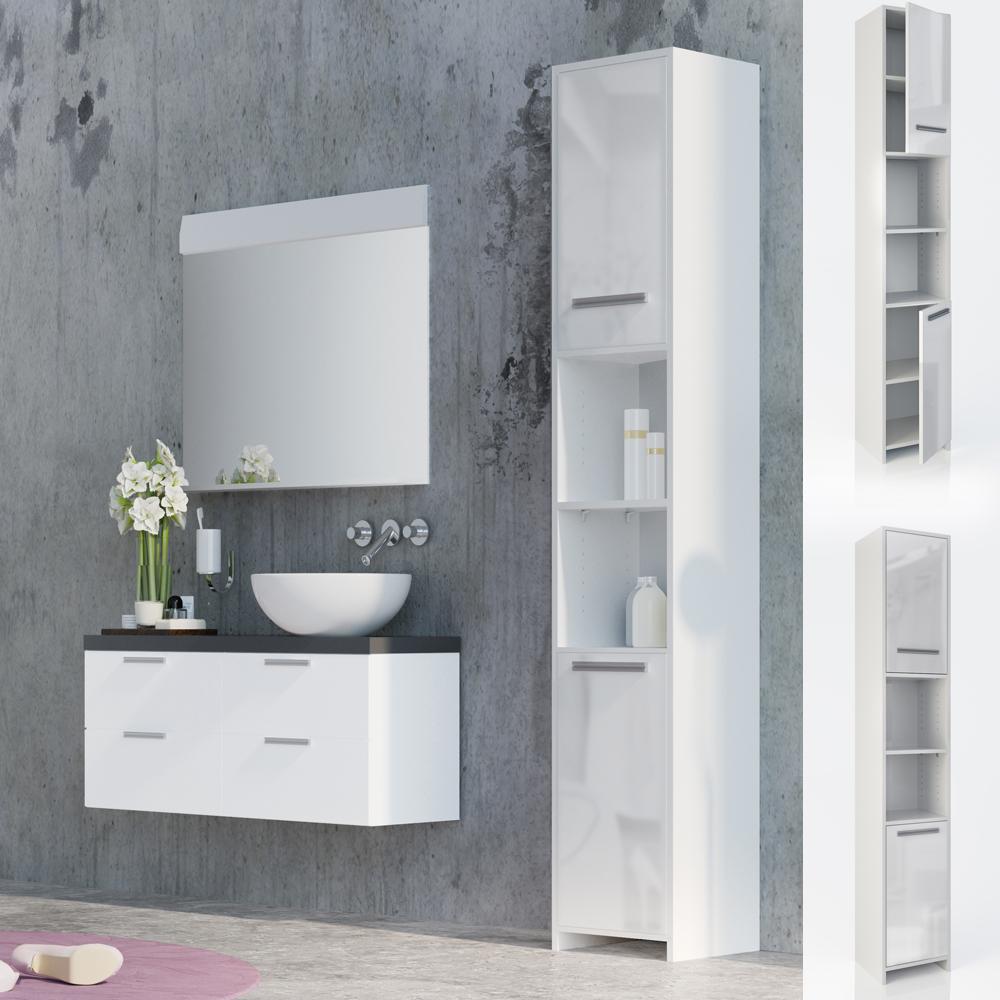 Mobiletto per bagno Mobiletto bagno Mobile a colonna per il bagno bianco lucido