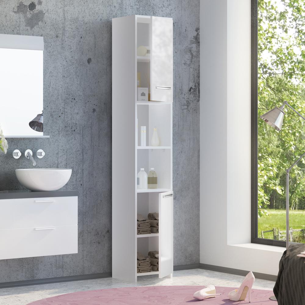 Mobiletto per bagno mobiletto bagno mobile a colonna per il bagno bianco lucido ebay - Mobiletto bagno ...
