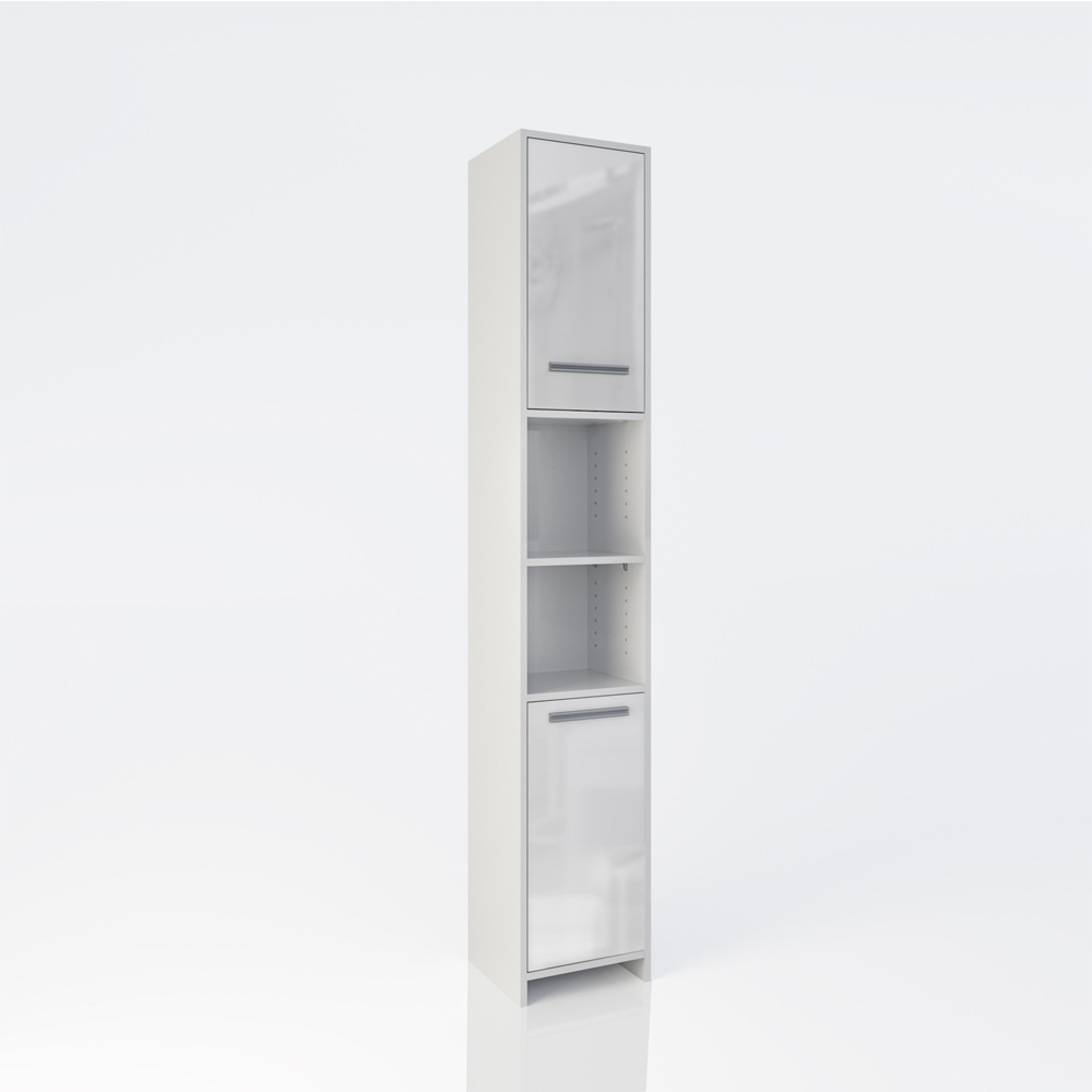 Armoire de toilette armoire de salle de bains haute for Armoire salle de bain blanc
