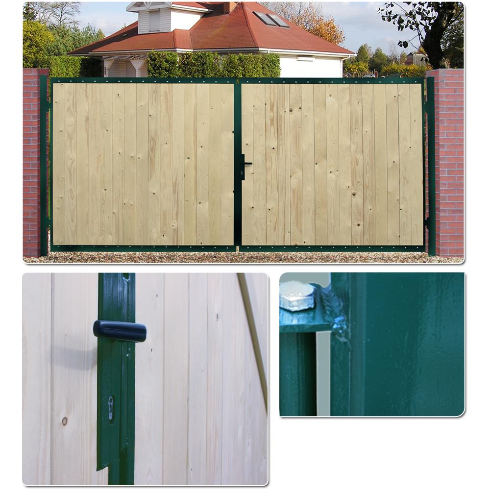 Wooden Driveway Gate Garden Door Farm Steel Frame Gates