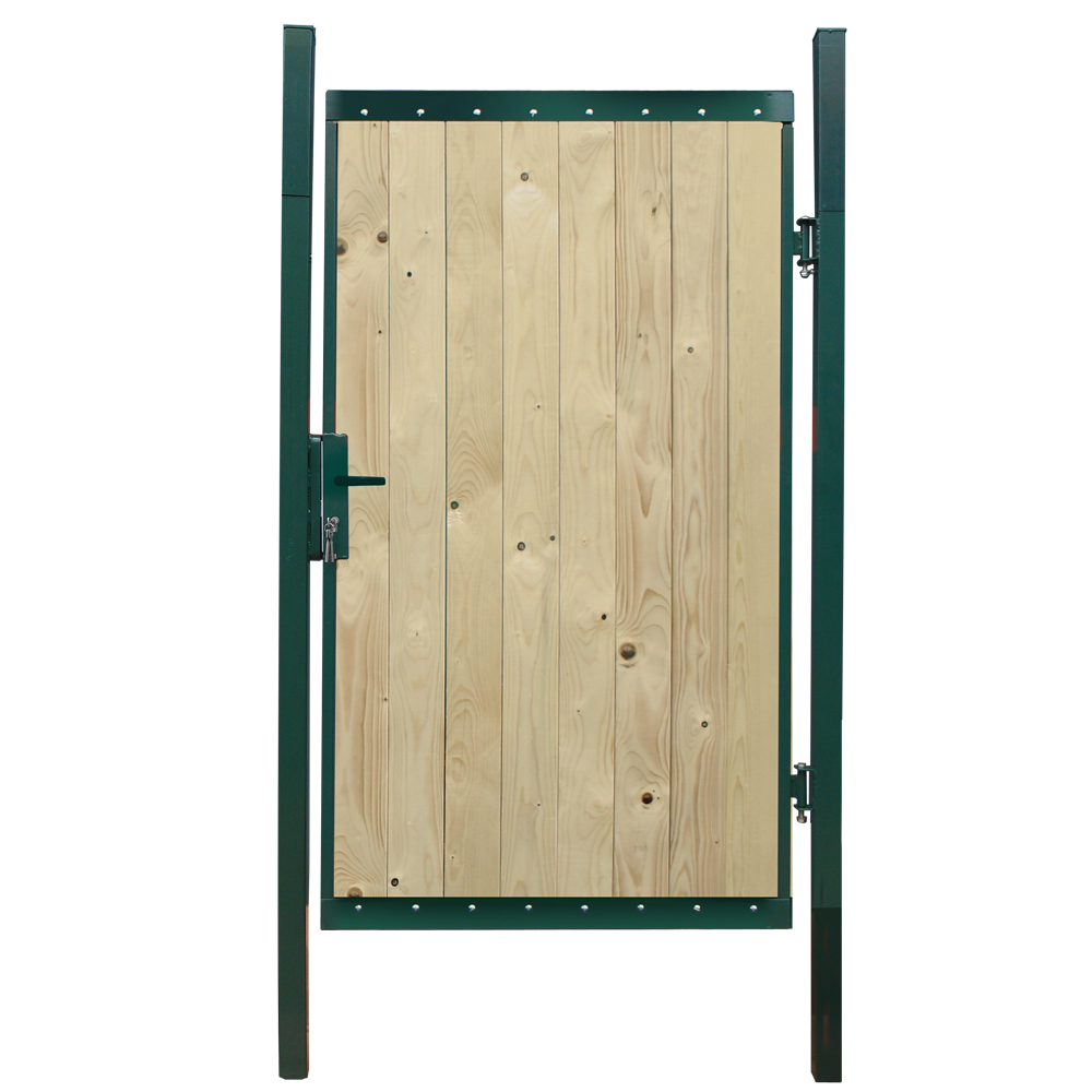 porte all e de jardin en bois porte ferme armature en acier 400x180 neuf ebay. Black Bedroom Furniture Sets. Home Design Ideas