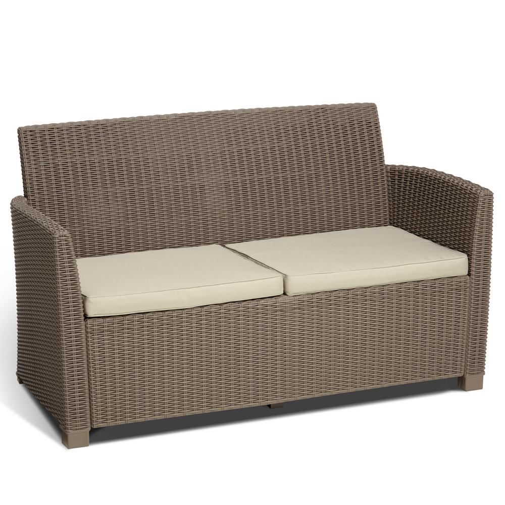 Allibert mobili da giardino set lounge Corona in rattan ...