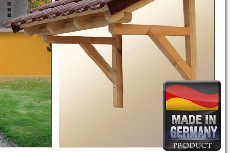 holz vordach pultvordach massivholz haust r t r berdachung holzvordach 1500 mm. Black Bedroom Furniture Sets. Home Design Ideas