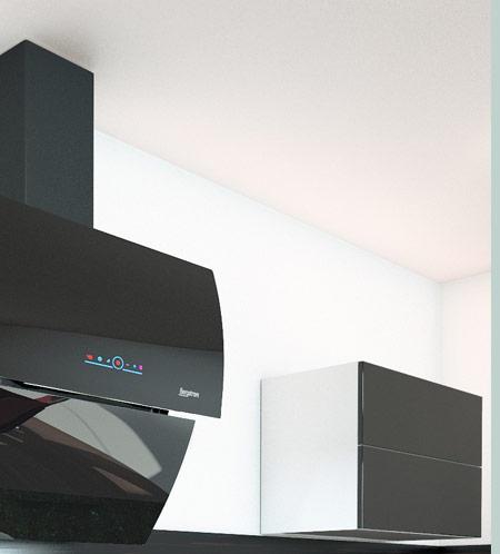bergstroem kopffreihaube dunstabzugshaube glas kopffrei haube sensor touch 60 cm ebay. Black Bedroom Furniture Sets. Home Design Ideas