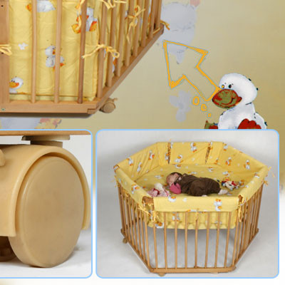 6eck 70x128 laufgitter baby bett laufstall. Black Bedroom Furniture Sets. Home Design Ideas