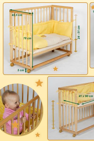 beistellbett baby laufgitter 2 in 1 benny inkl himmel einlage in gelb ebay. Black Bedroom Furniture Sets. Home Design Ideas