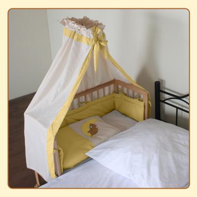 baby beistellbett kinder bett 2 in 1 polly inkl himmel einlage in gelb. Black Bedroom Furniture Sets. Home Design Ideas