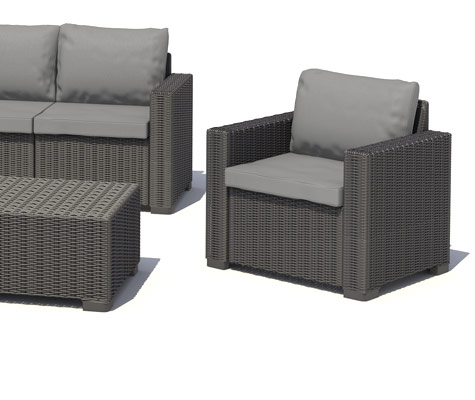 allibert california gartenm bel lounge set rattanoptik sitzgruppe garnitur ebay. Black Bedroom Furniture Sets. Home Design Ideas
