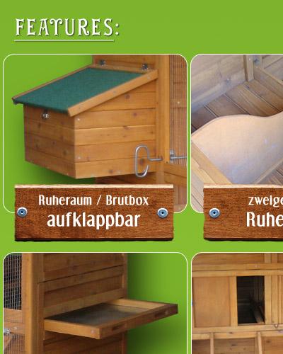 xxl h hnerstall hasenstall nagerstall kleintierstall h hner 166x190x165cm ebay. Black Bedroom Furniture Sets. Home Design Ideas