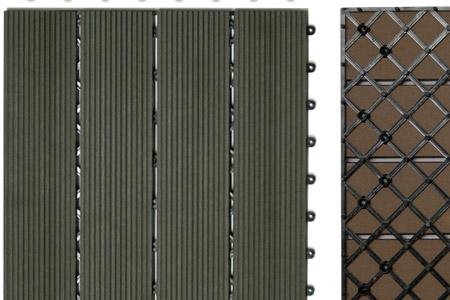 ... Terrasse : Wpc holzfliesen terrassenfliesen holzfliese cm m² terrasse