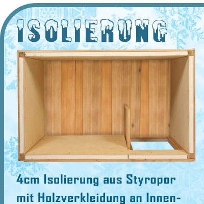 xxl hundeh tte isoliert mit windfang 150 x 95 x 103 cm ebay. Black Bedroom Furniture Sets. Home Design Ideas
