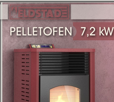 eldstad pelletofen kaminofen heizofen 7 2 kw pelletkaminofen ofen pelletheizung ebay. Black Bedroom Furniture Sets. Home Design Ideas
