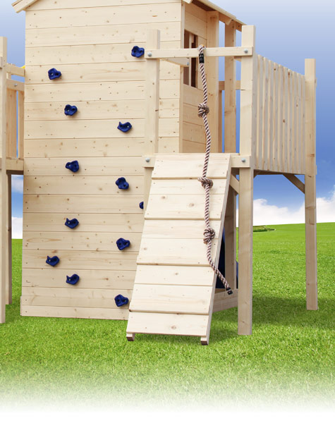 spielturm terrizio spielhaus kletterturm rutsche schaukel baumhaus stelzenhaus ebay. Black Bedroom Furniture Sets. Home Design Ideas